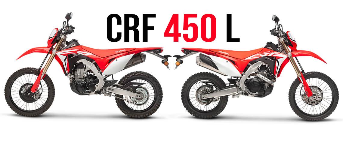 Honda Crf 450 L De 2019 Versão Com Capacidade On Off E Dna De