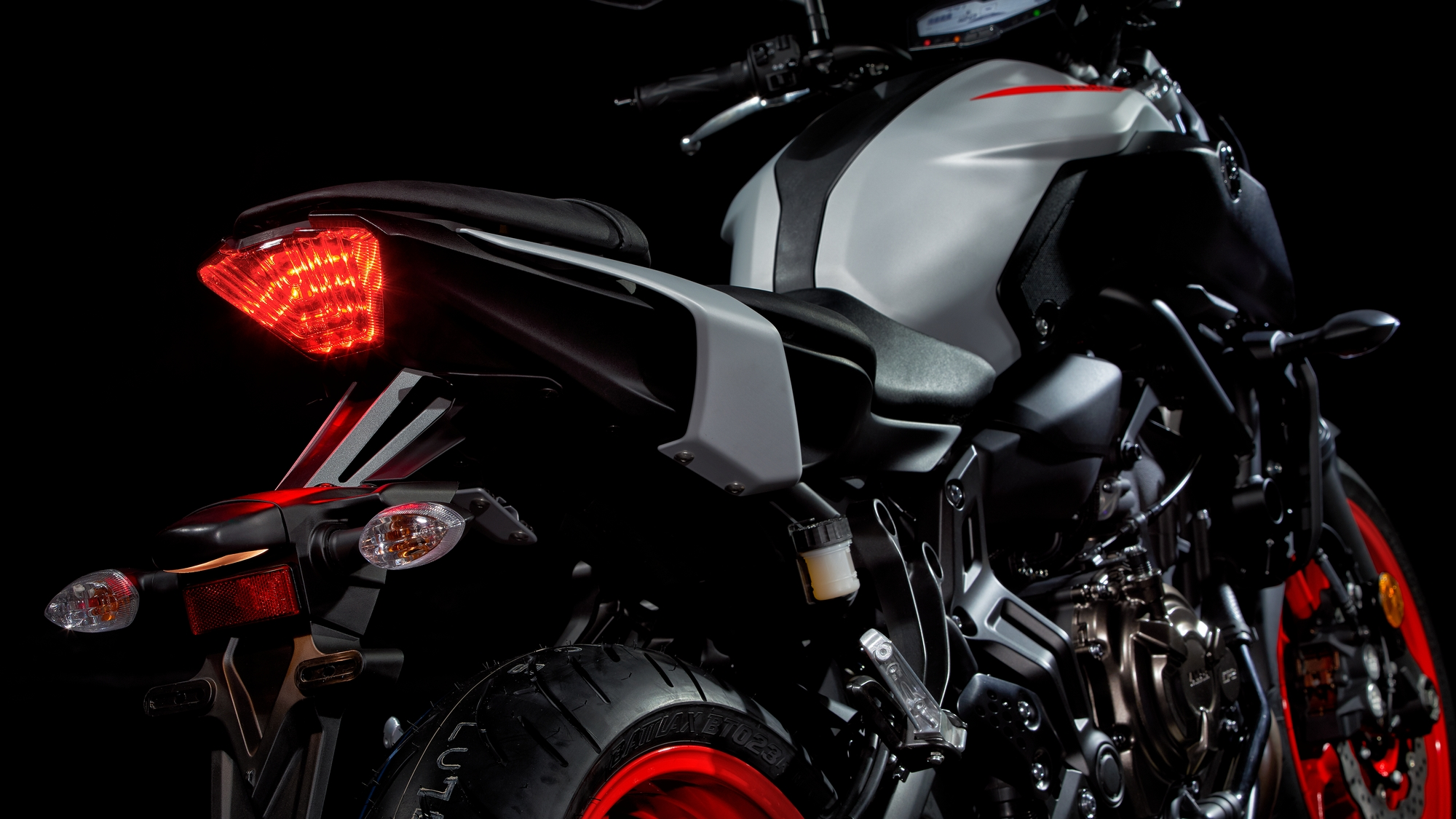 Red Yamaha MT-07 Tracer Motorcycle Coffee Mug