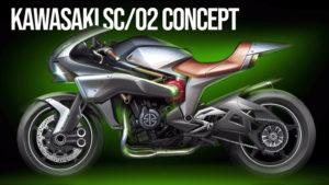 "KAWASAKI NEW SC/02 Prototype  – ""Super Charged"" inspirada na MACH III de 1969 thumbnail"