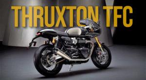 Triumph Thruxton TFC será o primeiro modelo a ser lançado sob o novo conceito Custom da marca. thumbnail