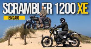 """Ensaio Triumph Scrambler 1200 XE de 2019 – Uma """"Neo Classic Adventure Naked"""" ? thumbnail"""