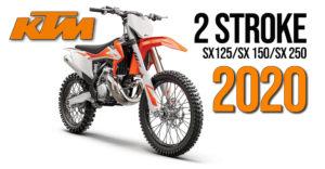Novas KTM 2020 de motocross a 2 Tempos 250 SX, 150 SX e 125 SX thumbnail