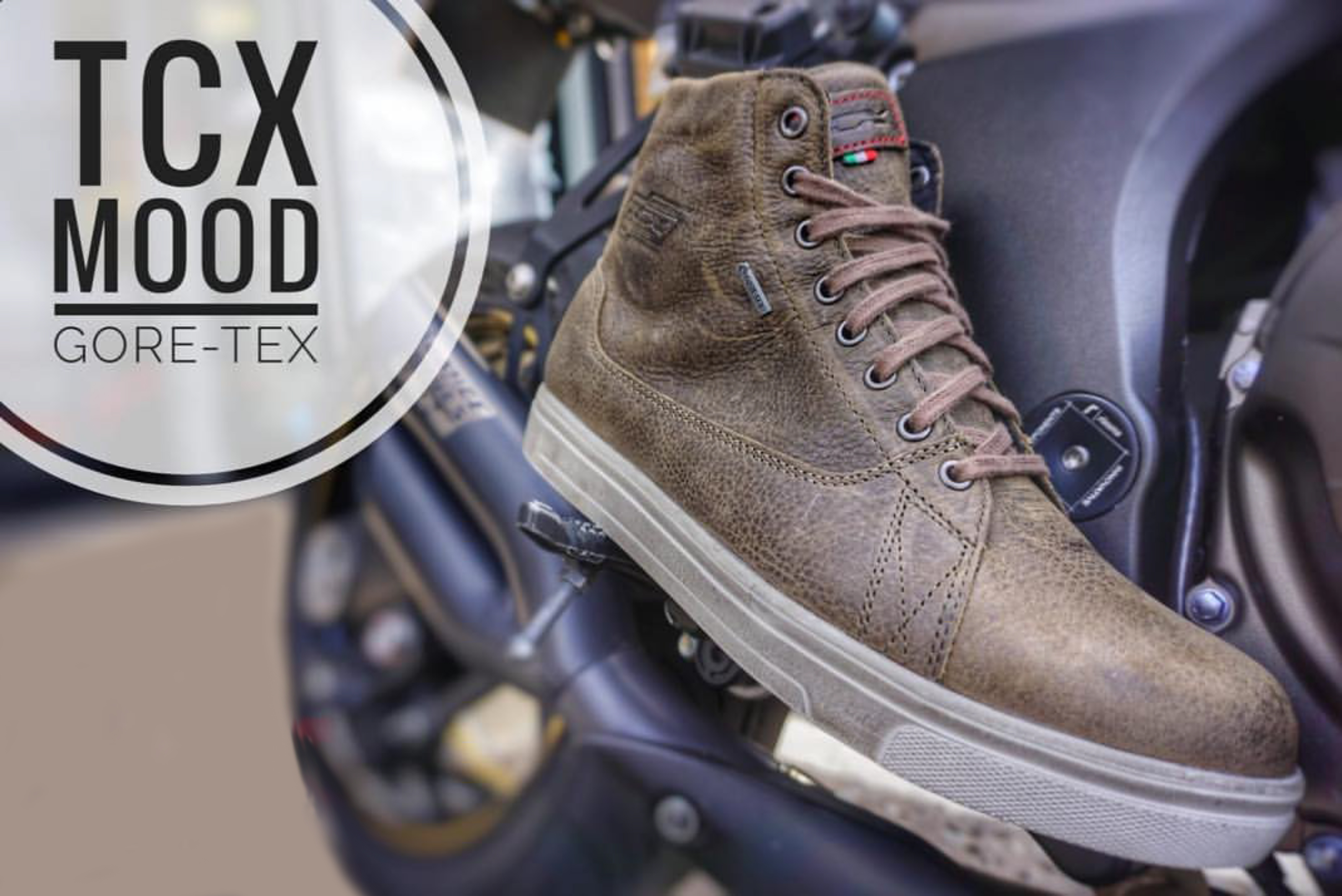 TCX Mood Gore-Tex Leather Motorcycle Boots
