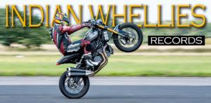 A Indian FTR 1200 faz sua estreia no Campeonato Mundial de Wheelie e bate recordes de velocidade thumbnail