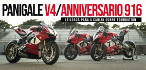 Ducati Panigale V4 25° Anniversario 916 será leiloada para a Carlin Dunne Foundation thumbnail