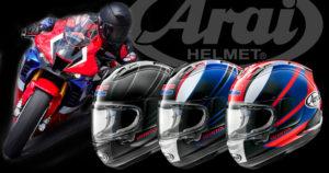 A ARAI lançou novas versões do seu capacete topo de gama com as cores da HRC thumbnail