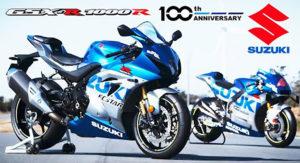 A Suzuki celebra o 100º Aniversário da marca com uma Edição Especial da sua GSX-R1000R thumbnail