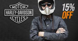 HARLEY-DAVIDSON OFERECE 15% DE DESCONTO NA SUA NOVA COLEÇÃO DE MOTORCLOTHES® thumbnail