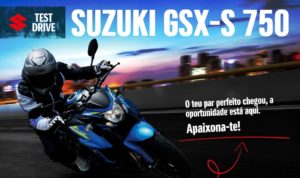 Moteo promove Test Drive à Suzuki GSX-S750 thumbnail