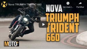 A nova Triumph Trident 660 apresentada em vídeo thumbnail