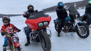Desafio num lago gelado com pesadas Harley's thumbnail