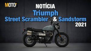 Triumph Street Scrambler e Street Scrambler Sandstorm 2021 – Artigo Vídeo thumbnail