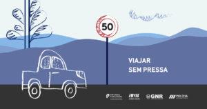 """Campanha """"Viajar sem pressa"""": GNR e PSP em ações de sensibilização e fiscalização thumbnail"""