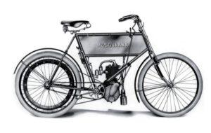 História: O primeiro velocípede com motor da Husqvarna thumbnail